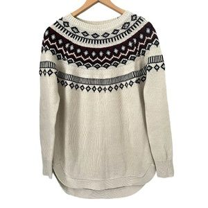 RD Style Ribbed Crew Neck Pullover Sweater Small